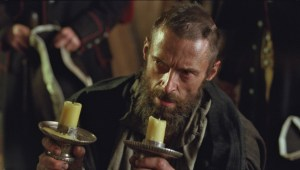 Hugh Jackman playing the role of Jean Valjean. Photo curtesy of lesmiserables.com.