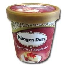 גלידות האגן-דאז עוגת גבינה ותותים