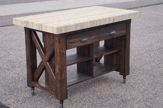 reclaimed wood kitchen island with butcher block top furniture ideas l