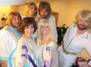 Vision ABBA Tribute Band Backstage