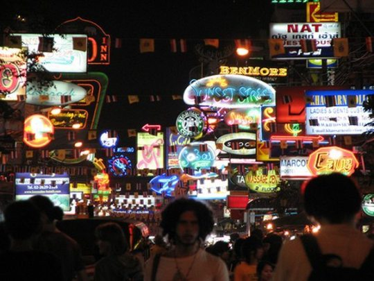 try out khao san road's backpacker night life on your first time in bangkok