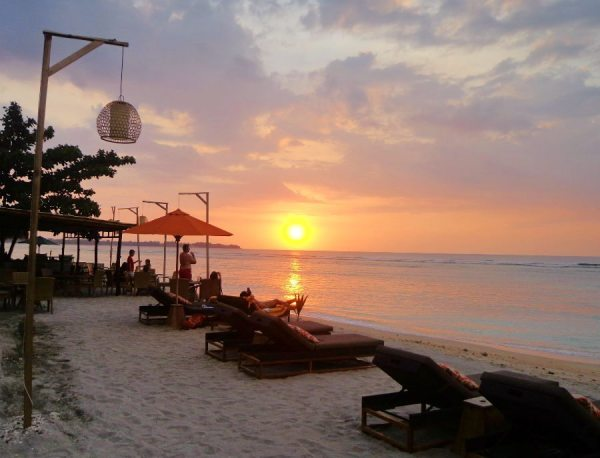 Sunset over Indonesia's Gili Islands