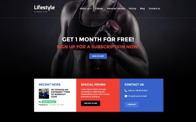 Lifestyle - Gym HTML5 Responsive Website Template