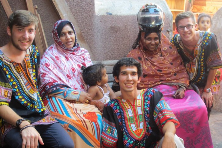 Me with my host family in Zanzibar