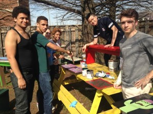Students from Trinity School (NYC) doing service work in New Orleans