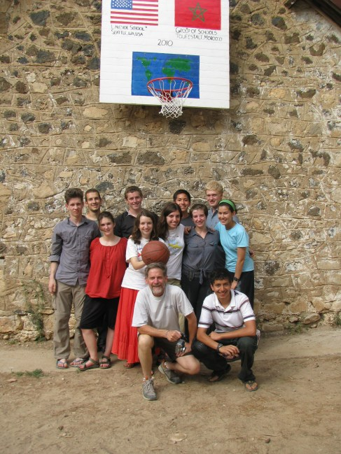 Group with basketball project