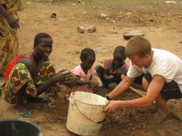 Making mud for stoves