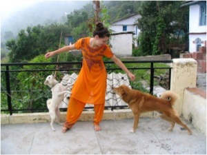 Me & the Pups at my India Homestay