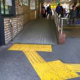 ramp leading to the train station