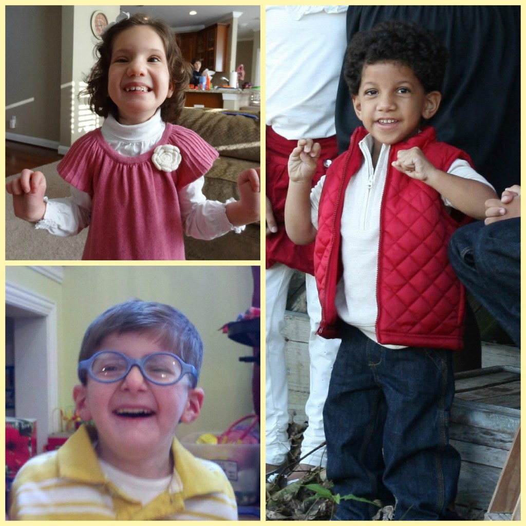 Sara and Phillip (both on left) have mosaic trisomy 9, and Ben (on right) has trisomy 9p.