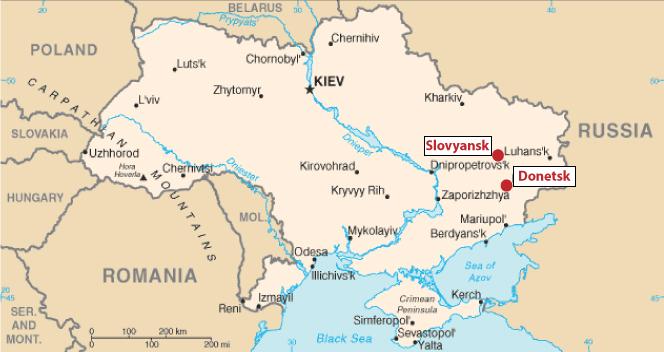 Project Exile Ukrainian flees amidst fighting Global Journalist – Map Ukraine Fighting