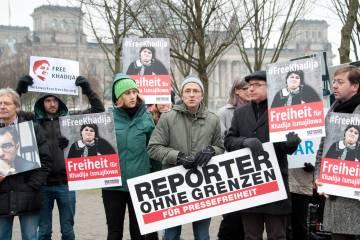 Protest for freedom of Press in Azerbaijan