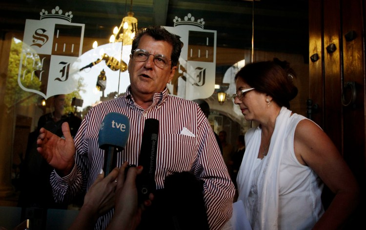 Cuban dissident Oswaldo Paya speaks in Havana in 2011. He died in a suspicious car crash in 2012. (AP Photo/Franklin Reyes)