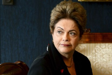 Brazil's President Dilma Rousseff holds a talk with Finland's President Sauli Niinisto, at the Presidential Palace in Helsinki, Finland, Tuesday, Oct. 20, 2015. (Jussi Nukari/Lehtikuva via AP)  FINLAND OUT