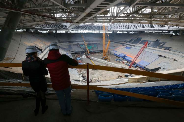 New World Cup stadiums like the Zenit Arena in St. Petersburg may be underutilized after the tournament. (AP Photo/Dmitri Lovetsky)