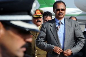 Eritrea's President Isaias Afewerki arrives for an African Union summit in Libya in 2010. (AP Photo/Geert Vanden Wijngaert)