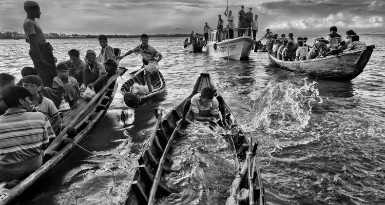 Rohingya fleeing to Bangladesh in 2012 are sent back to sea.