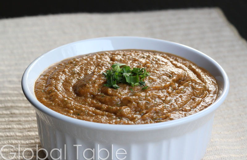 Smooth and spicy Eggplant Dip