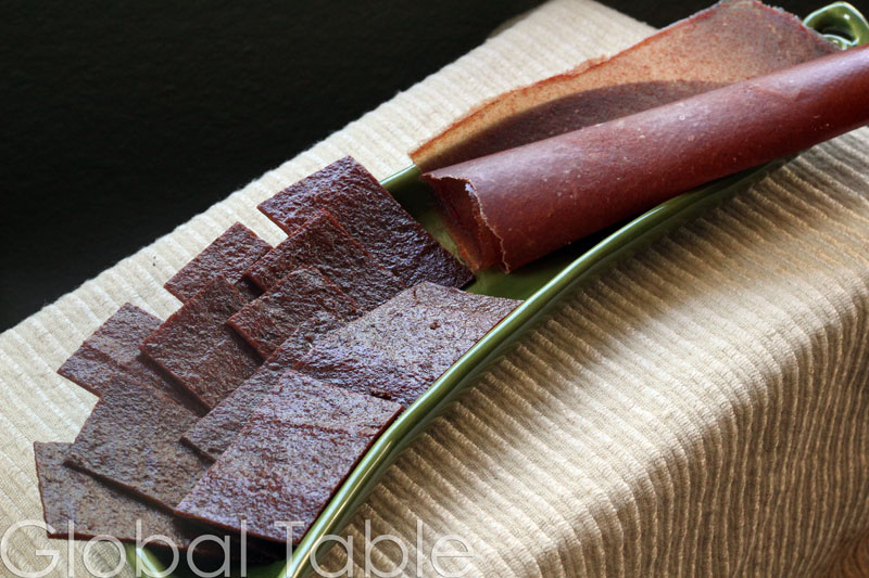 Fruit Leather in strips or rolled up