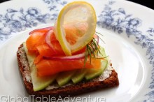 Smoked Salmon Smorrebrod | 22 Campfire & Scandinavian Recipes to celebrate Midsummer's Night