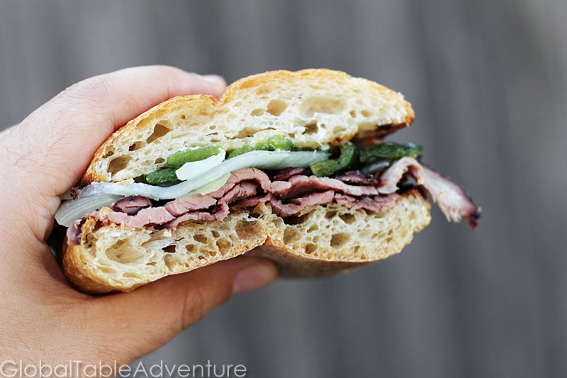 Hickory Smoked Flank Steak Sandwiches | Coupé coupé | Global Table ...