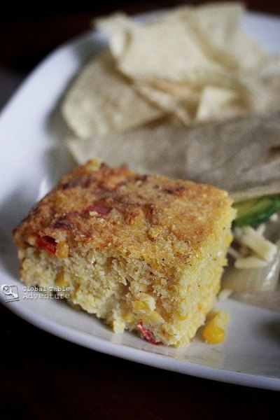 The Paraguayan Cornbread , loaded with peppers, onions, real corn, and ...