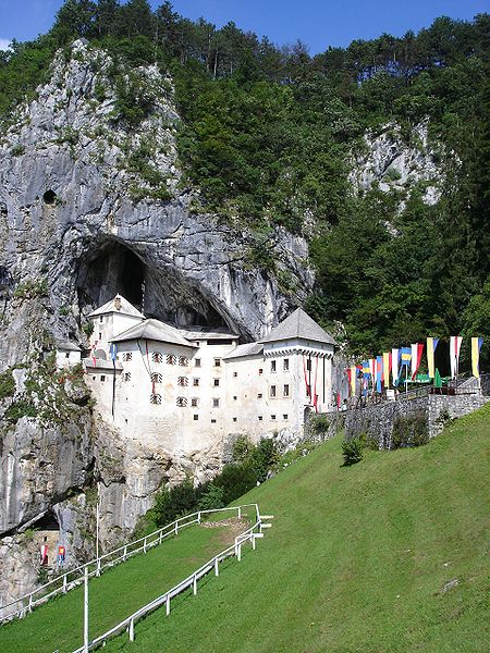 Predjama Castle, Slovenia. Photo by Wolfgang Moser.