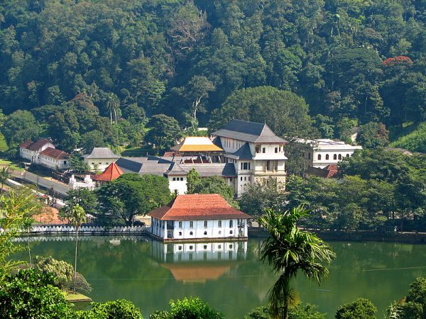 The Temple of the Tooth in Kandy. This temple is one of the most holy sites in Sri Lanka reputed to contain an actual tooth of the Buddha on his 2nd visit to the Island over 2000 years ago. Photo by McKay Savage.