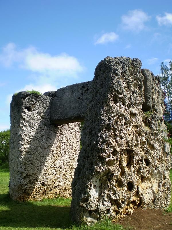 The Tongan Stonehenge, only made from coral. Photo by Tony Bowden.