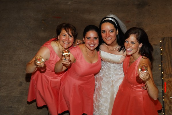 My sister Elisa, Marina, myself, and Becky.