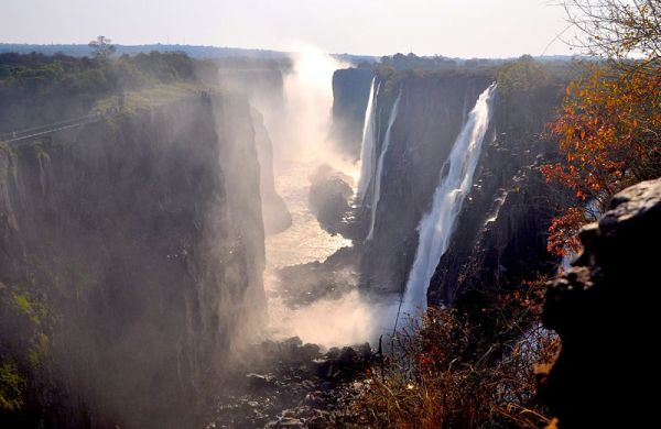 Victoria Falls, First Gorge, Zambian Side. Photo by DoctorJoeE.