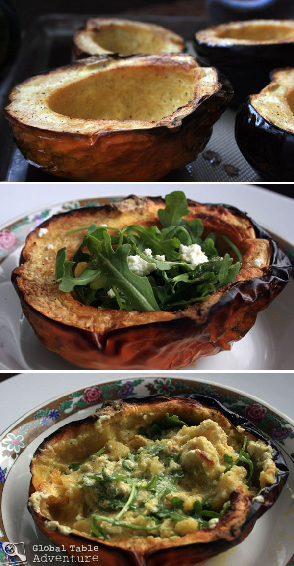 Roasted Acorn Squash Salad from Argentina | 22 Campfire & Scandinavian Recipes to celebrate Midsummer's Night