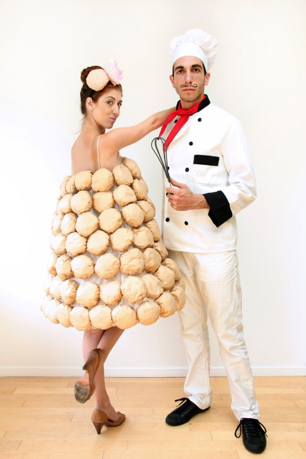 Croquembouche (15 Halloween Costumes Made from the World's Most Iconic Foods)