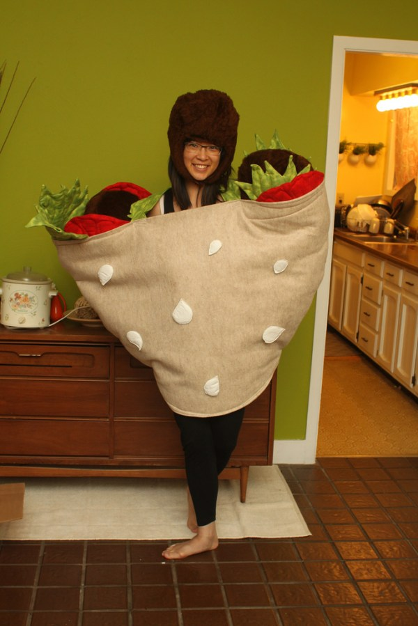 Falafel Costume (15 Halloween Costumes Made from the World's Most Iconic Foods)
