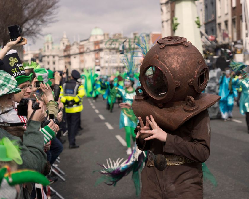 """St Patrick's Parade 2014. (13239914155)"" by Miguel Mendez from Malahide, Ireland - St Patrick's Parade 2014.. Licensed under CC BY 2.0 via Wikimedia Commons - http://commons.wikimedia.org/wiki/File:St_Patrick%27s_Parade_2014._(13239914155).jpg#mediaviewer/File:St_Patrick%27s_Parade_2014._(13239914155).jpg"