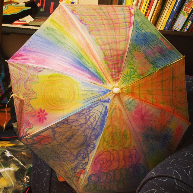 Mary Poppins Birthday Party: Decorate your own umbrella