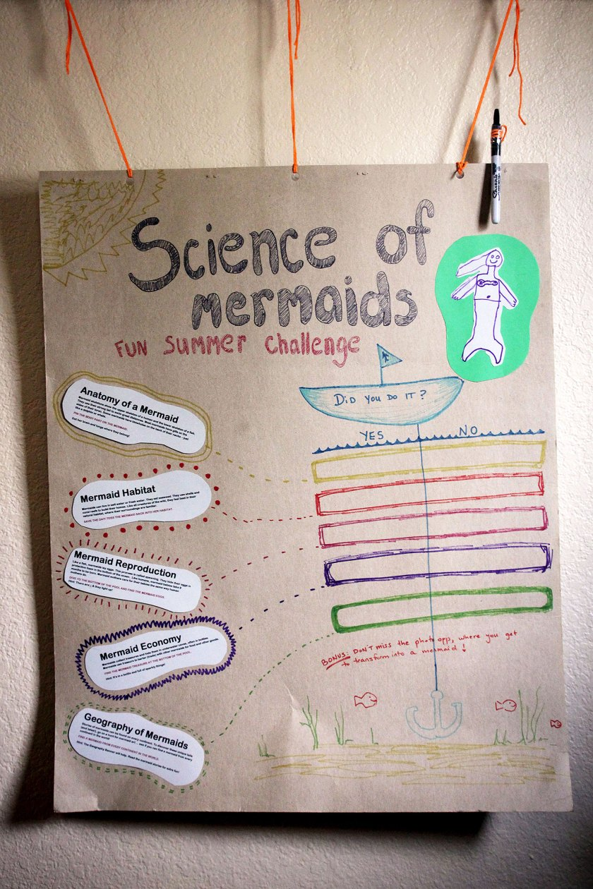 Science of Mermaids Birthday Party: Challenge checklist
