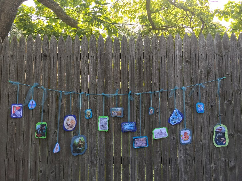Science and Geography of Mermaids Party: Geography Garland