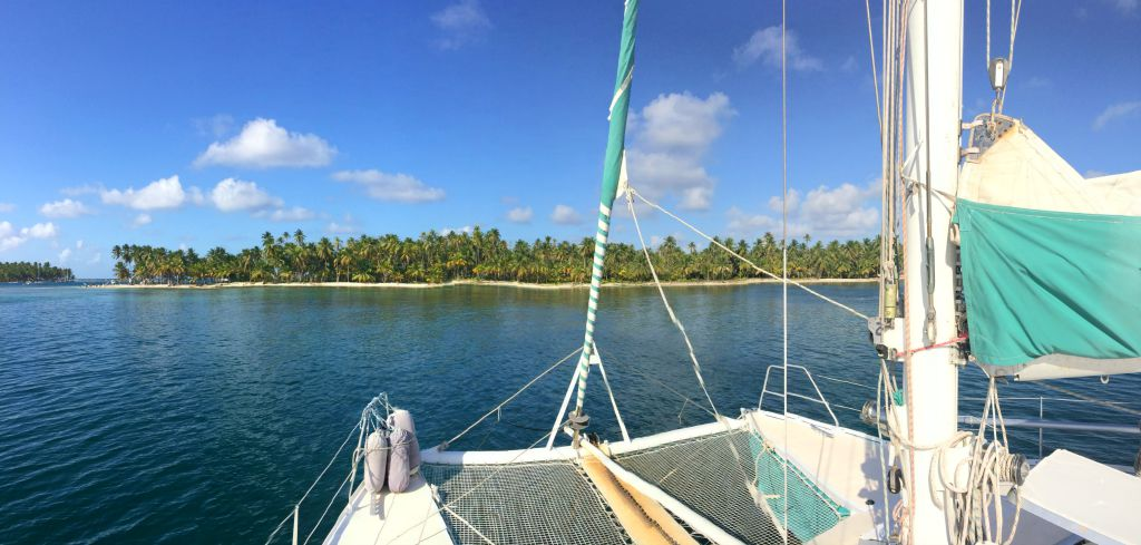 Moored off the island of Chicheme, San Blas, Panama