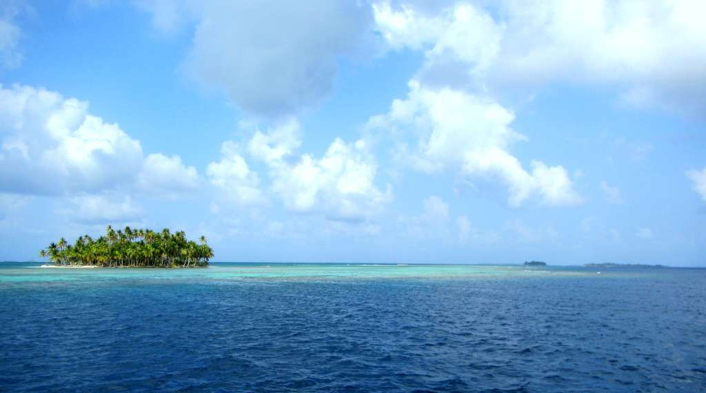 One of the hundreds of coral islands in San Blas, Panama