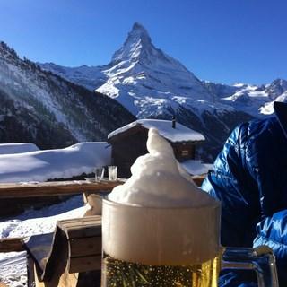 Matterhorn and beer
