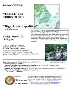 Toronto G.T.'s High Arctic
