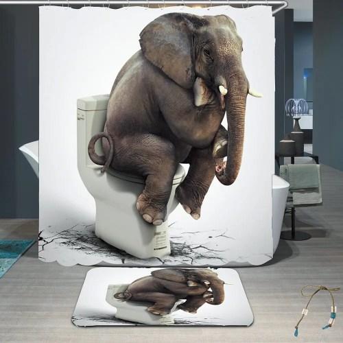 Medium Crop Of Elephant Shower Curtain