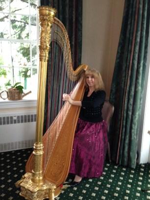 Professional Harpist Gloria Galante