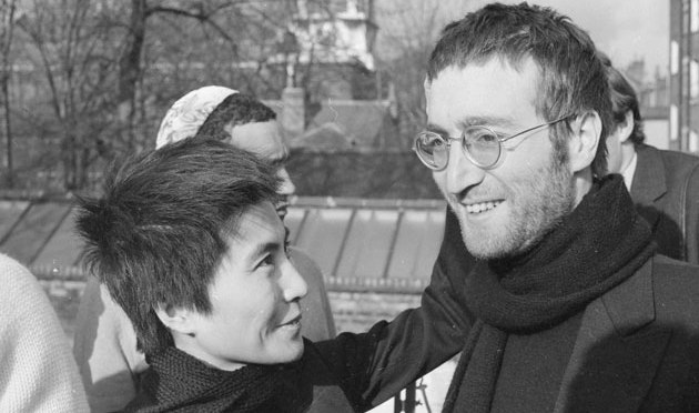 John and Yoko with short hair
