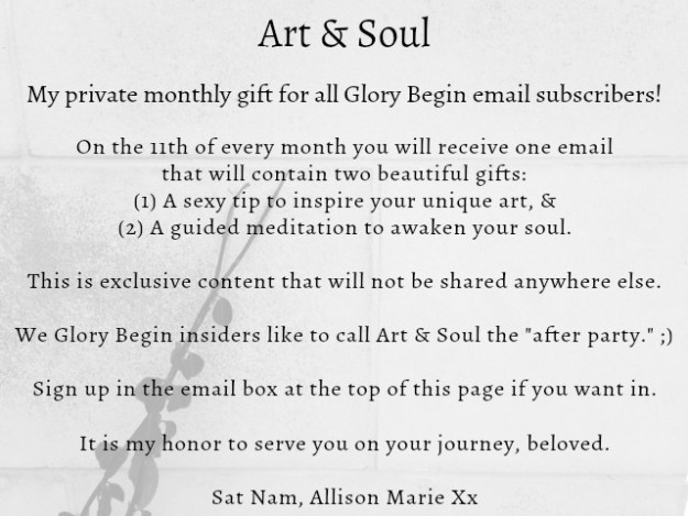 Art and Soul for about page