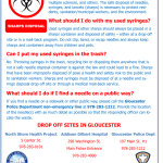 City of Gloucester Responds to Needles Found Discarded on Streets and in Public Places