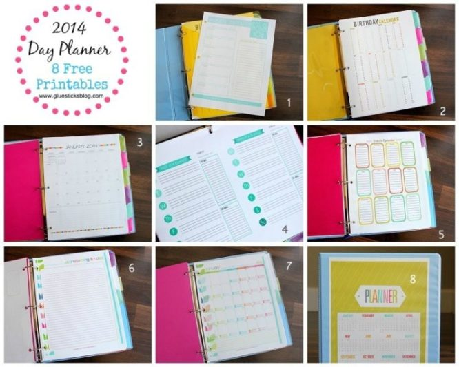 2014 Day Planner With Printables