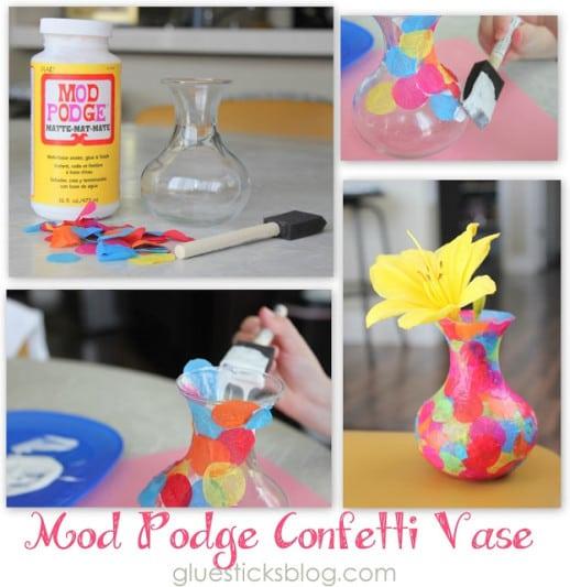 Mod Podge Confetti Vase