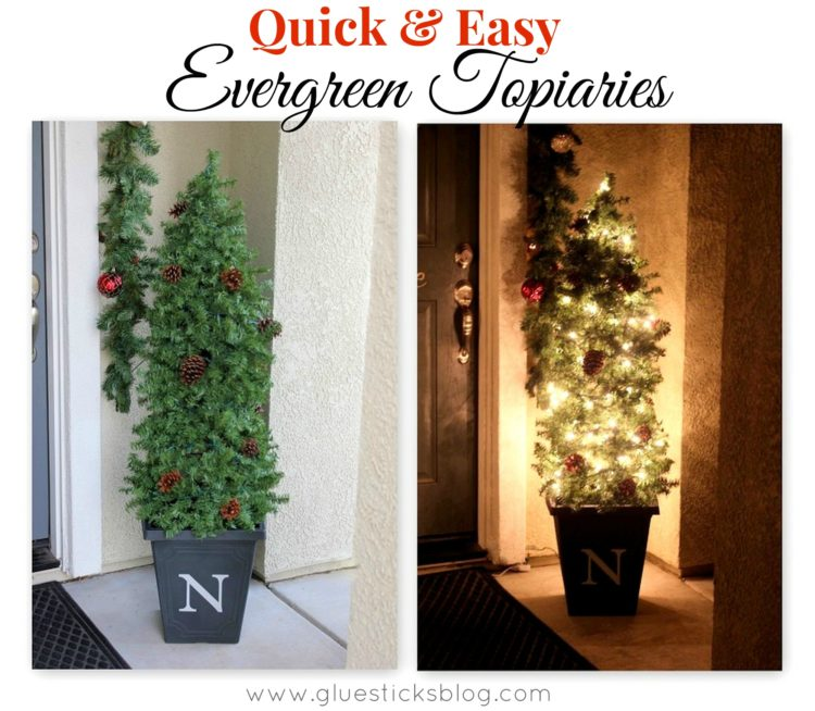 Quick & Easy Evergreen Topiaries